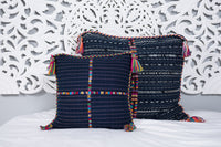 Cortes Huipil Pillow Cover Denim X