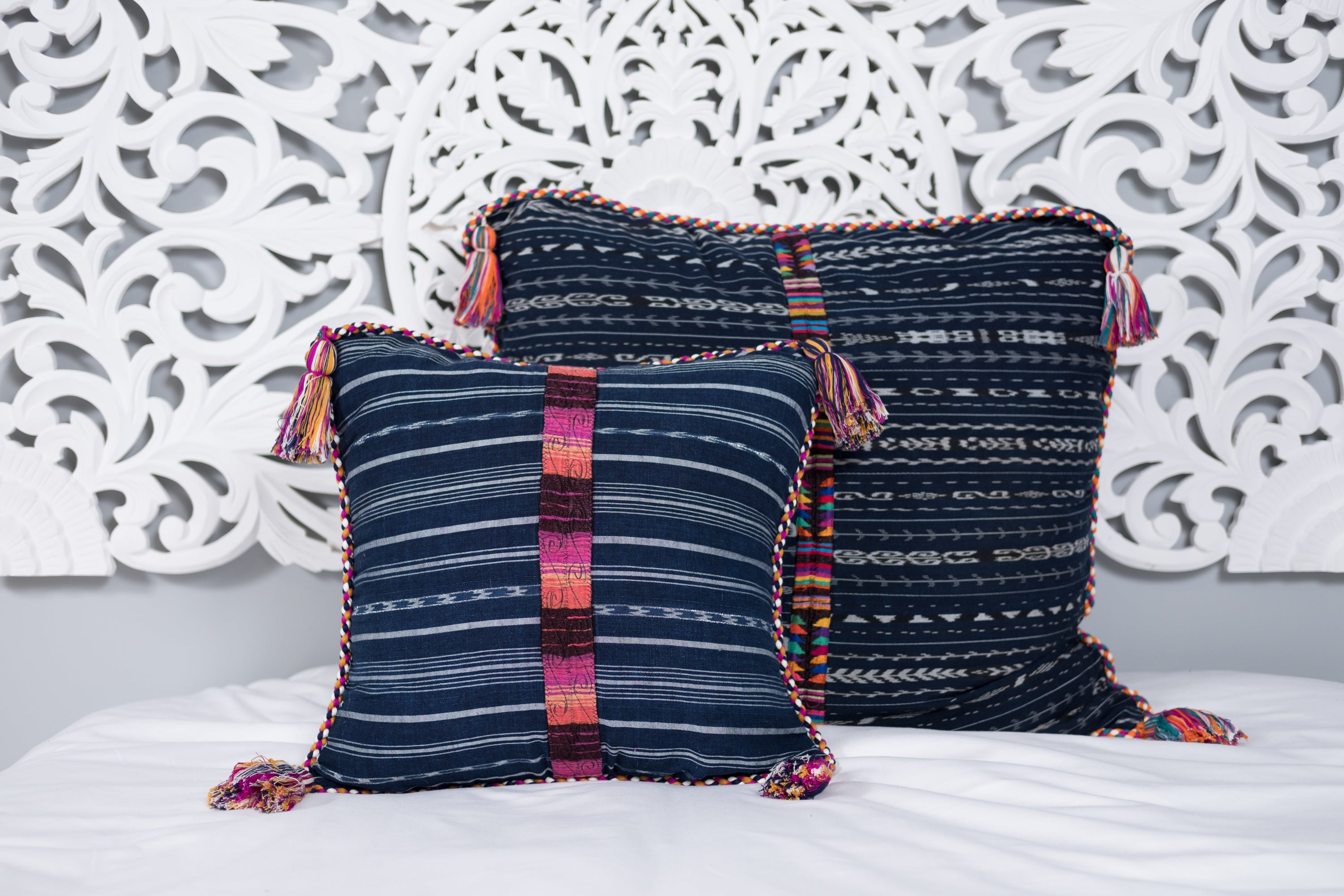 Cortes Huipil Pillow Cover Sombre