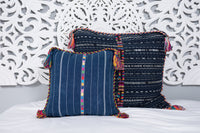 Cortes Huipil Pillow Cover Denim