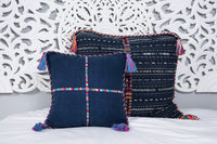 Cortes Huipil Pillow Cover  Indigo Denim Fiesta