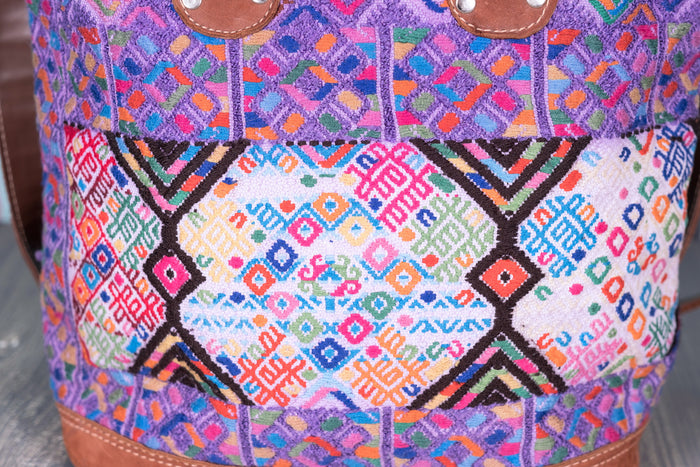 Huipil Day Bag Purse Diaper Bag (medium) Water colors