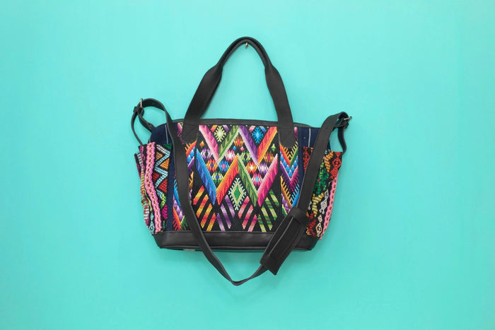 Huipil Day Bag Tote Purse Diaper Bag Cross Body (medium) #020