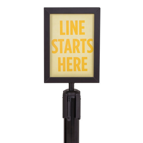 USW U2507 Sign Holder - Black - For Premium Steel Stanchions