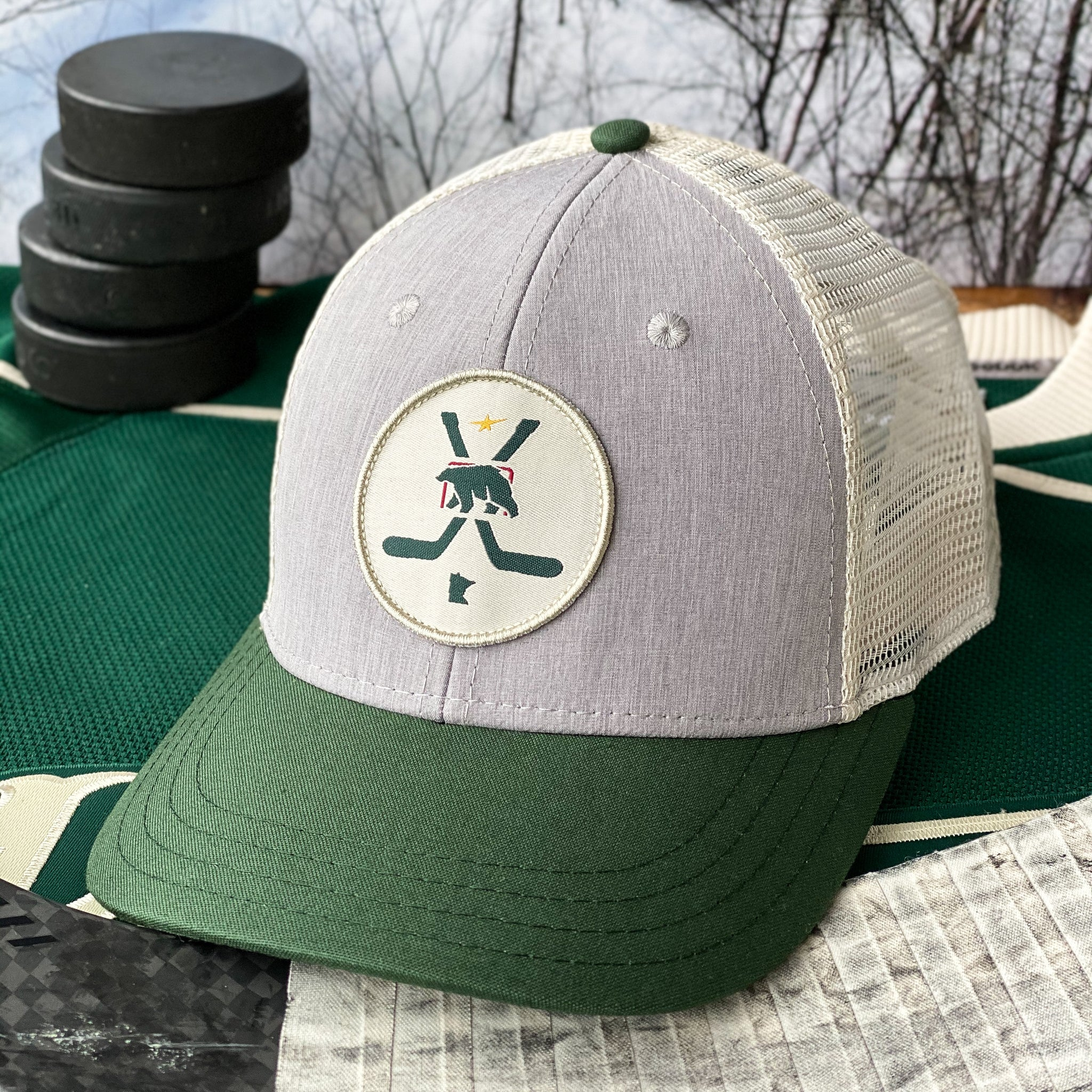 Pride of the North (Steel Tech Heather/Forest/Wheat) - Beauty Status Hockey Co.