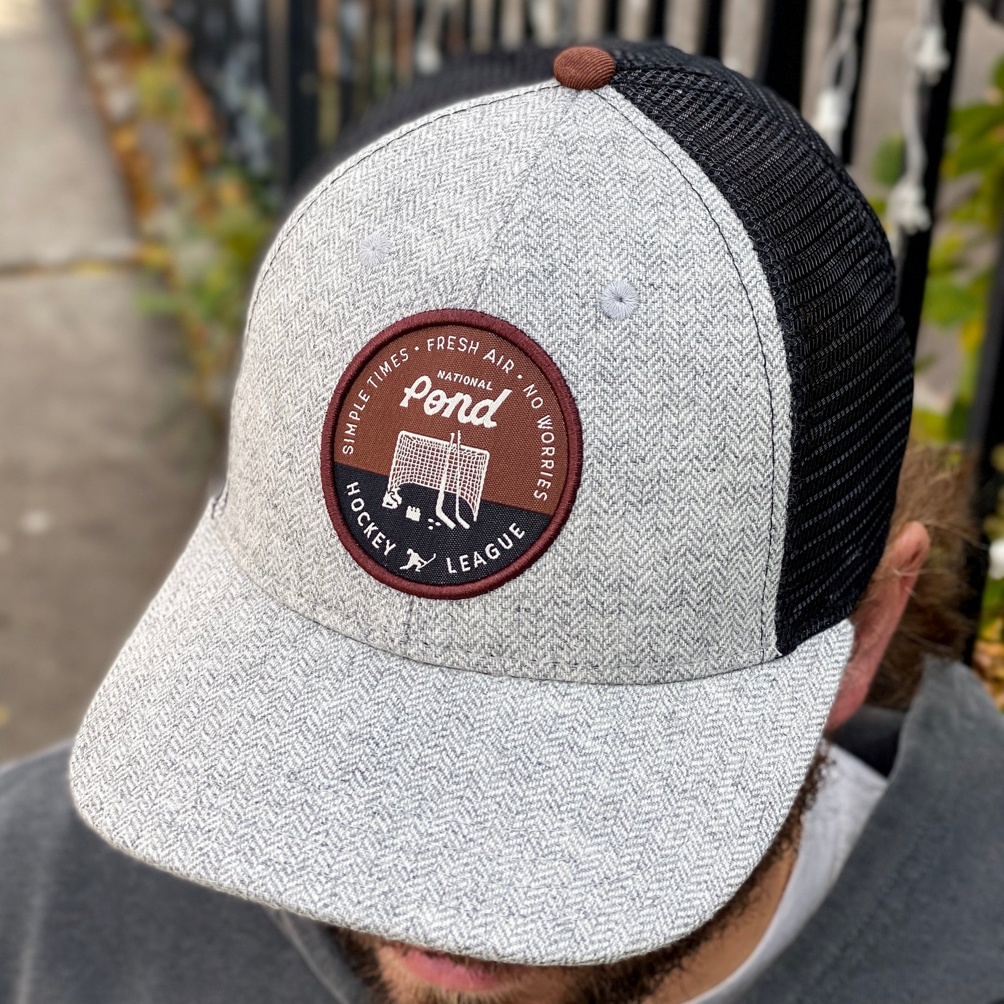 NPHL (Grey Herringbone/Black/Whiskey) - Beauty Status Hockey Co.