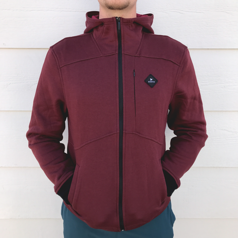 Team First *Technical Fleece (Oxblood/Black)
