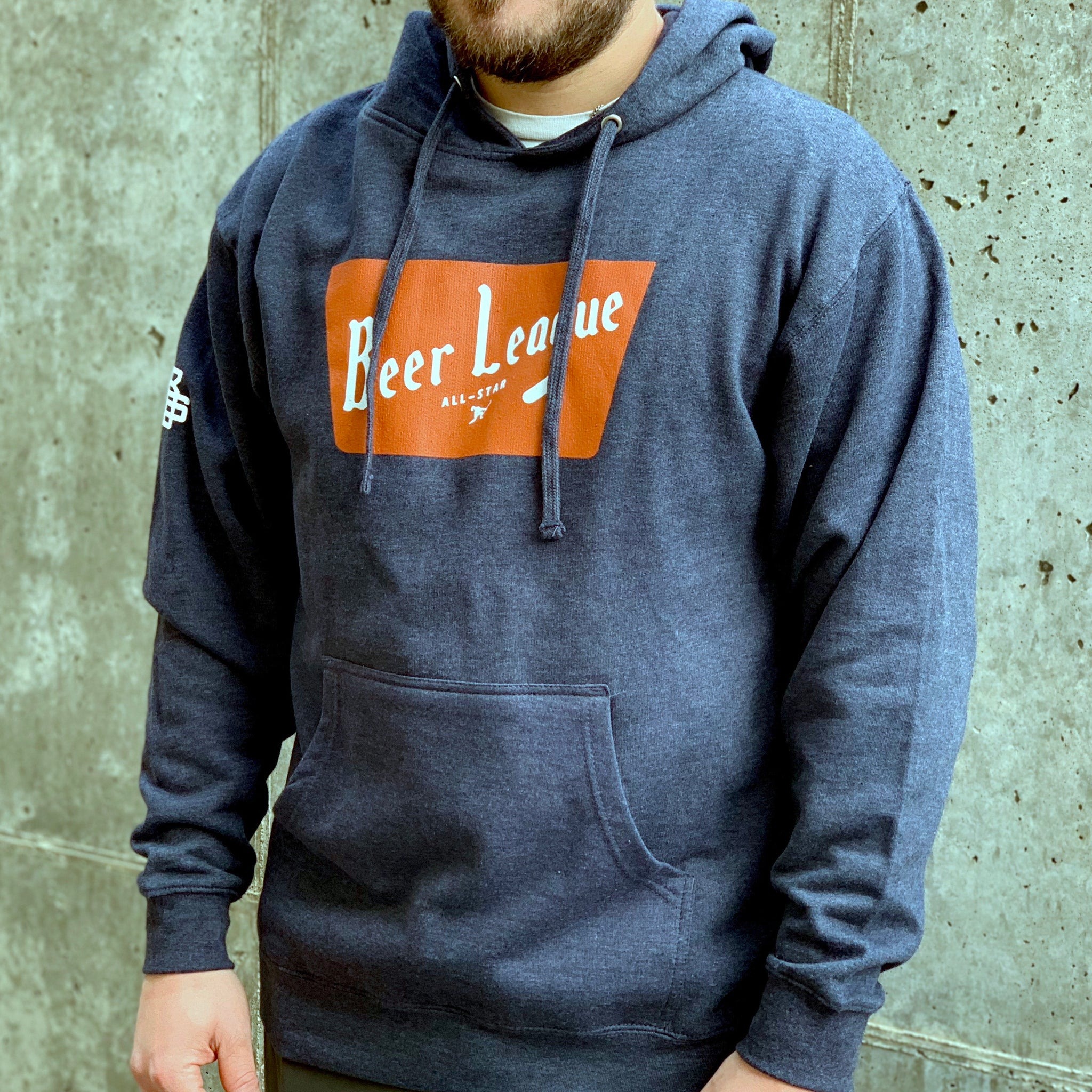 Beer League All-Star *Fleece (Heather Navy) - Beauty Status Hockey Co.