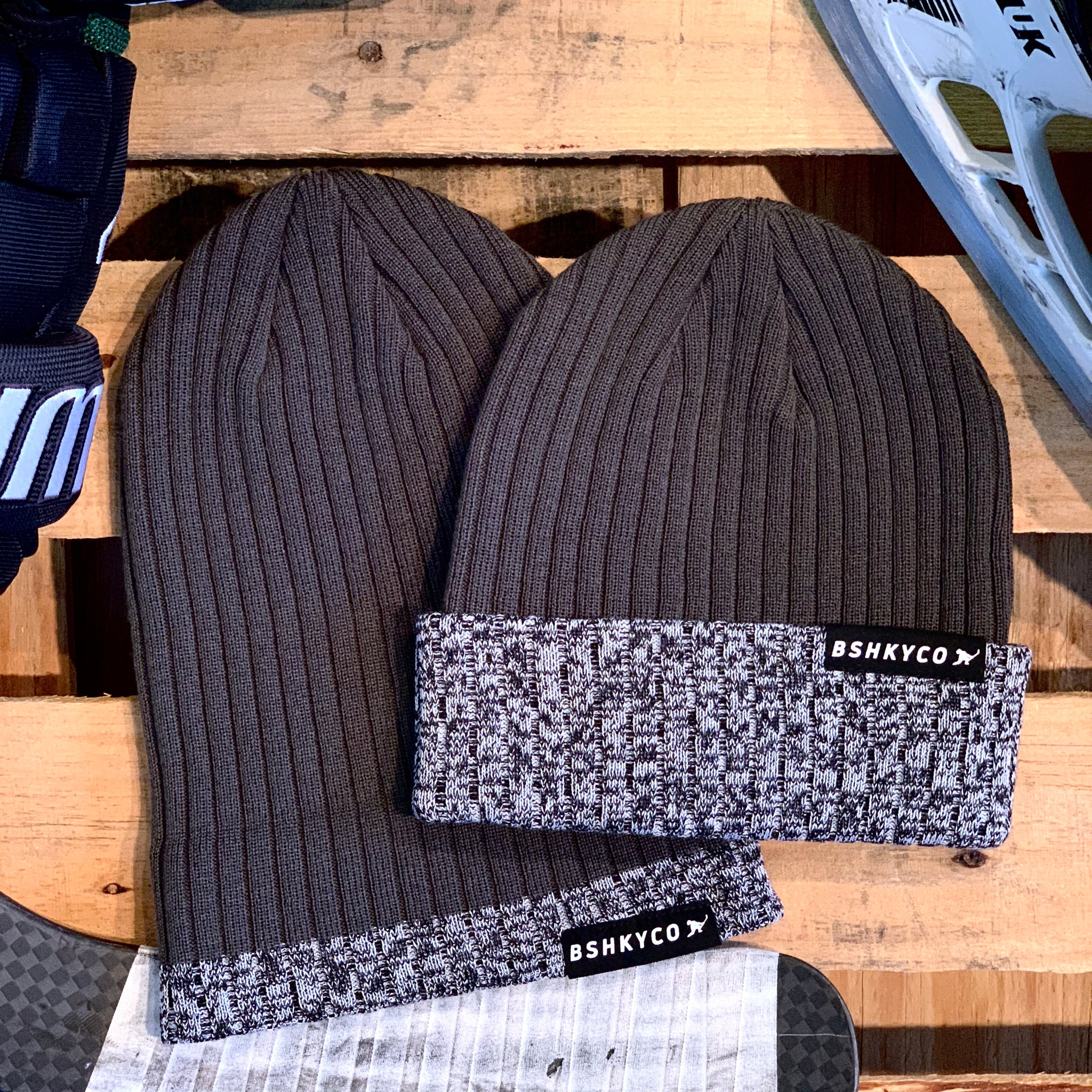 Signature Knit (Charcoal/Puck Mark/Black) - Beauty Status Hockey Co.