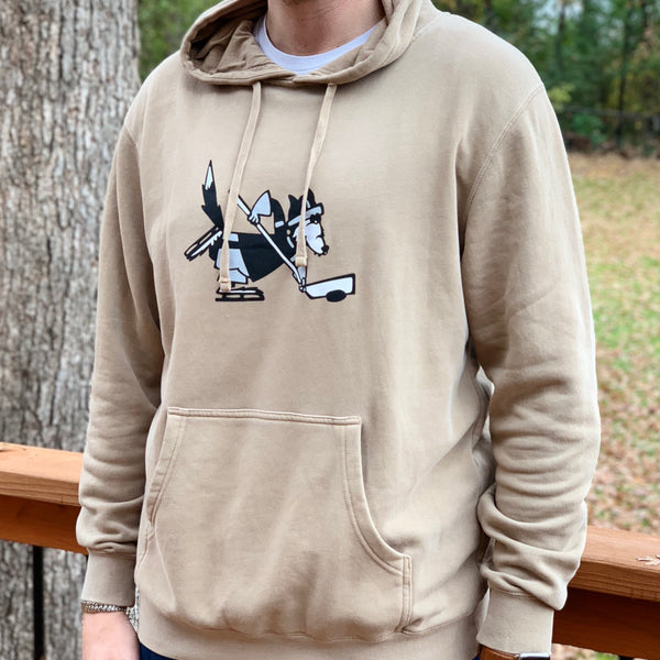 Mascot *Pigment Dyed Fleece (Washed Khaki) - Beauty Status Hockey Co.