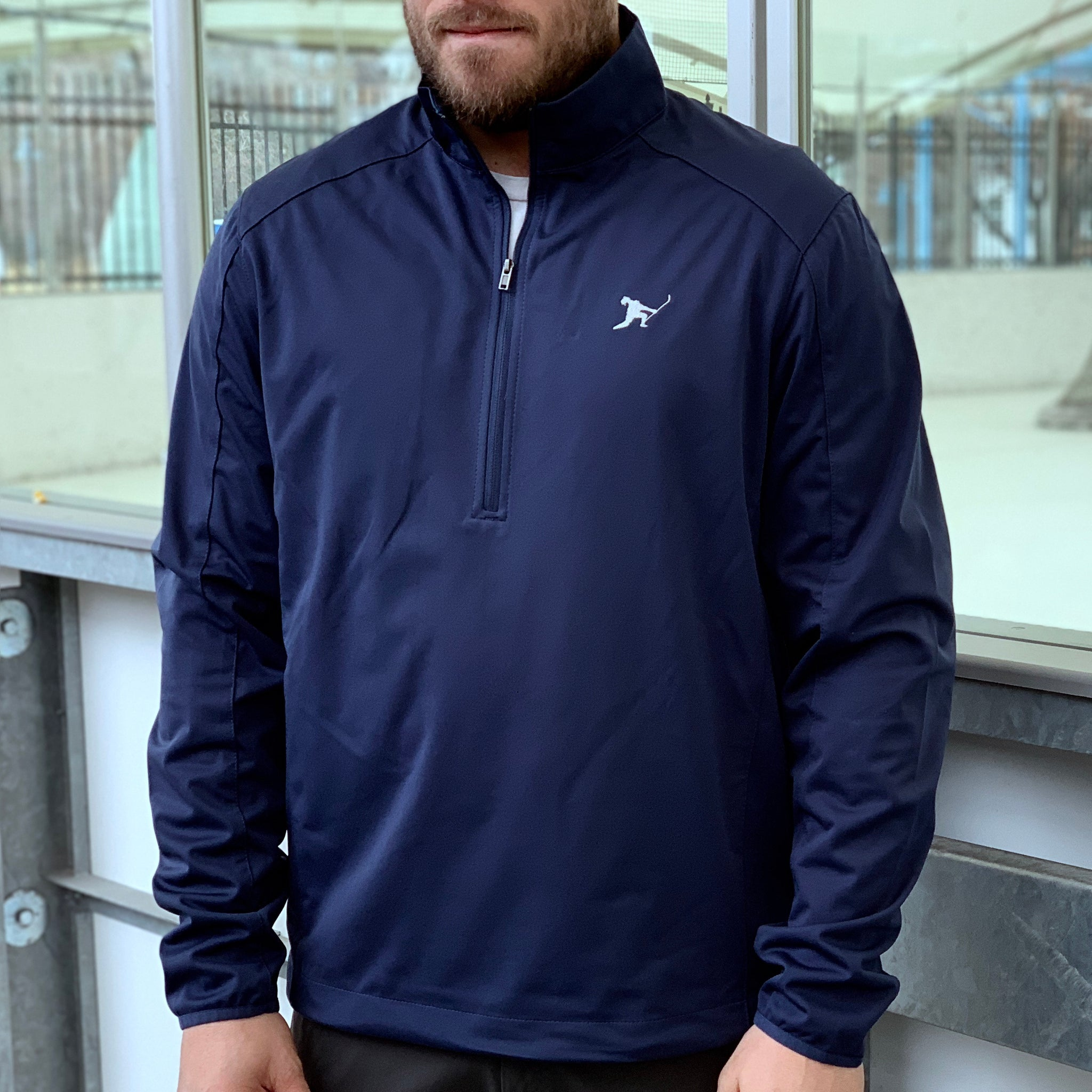 Team Issued *1/2 Zip Soft Shell (Navy) - Beauty Status Hockey Co.