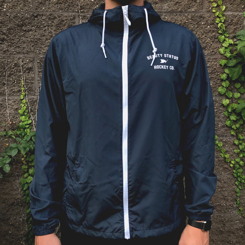 Pre-Game Windbreaker *Water Resistant (Navy/White)