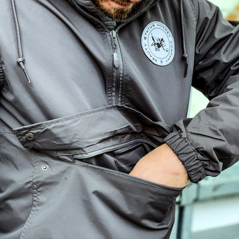 Wolves of Winter *1/2 Zip Anorak Shell (Cinder Grey)