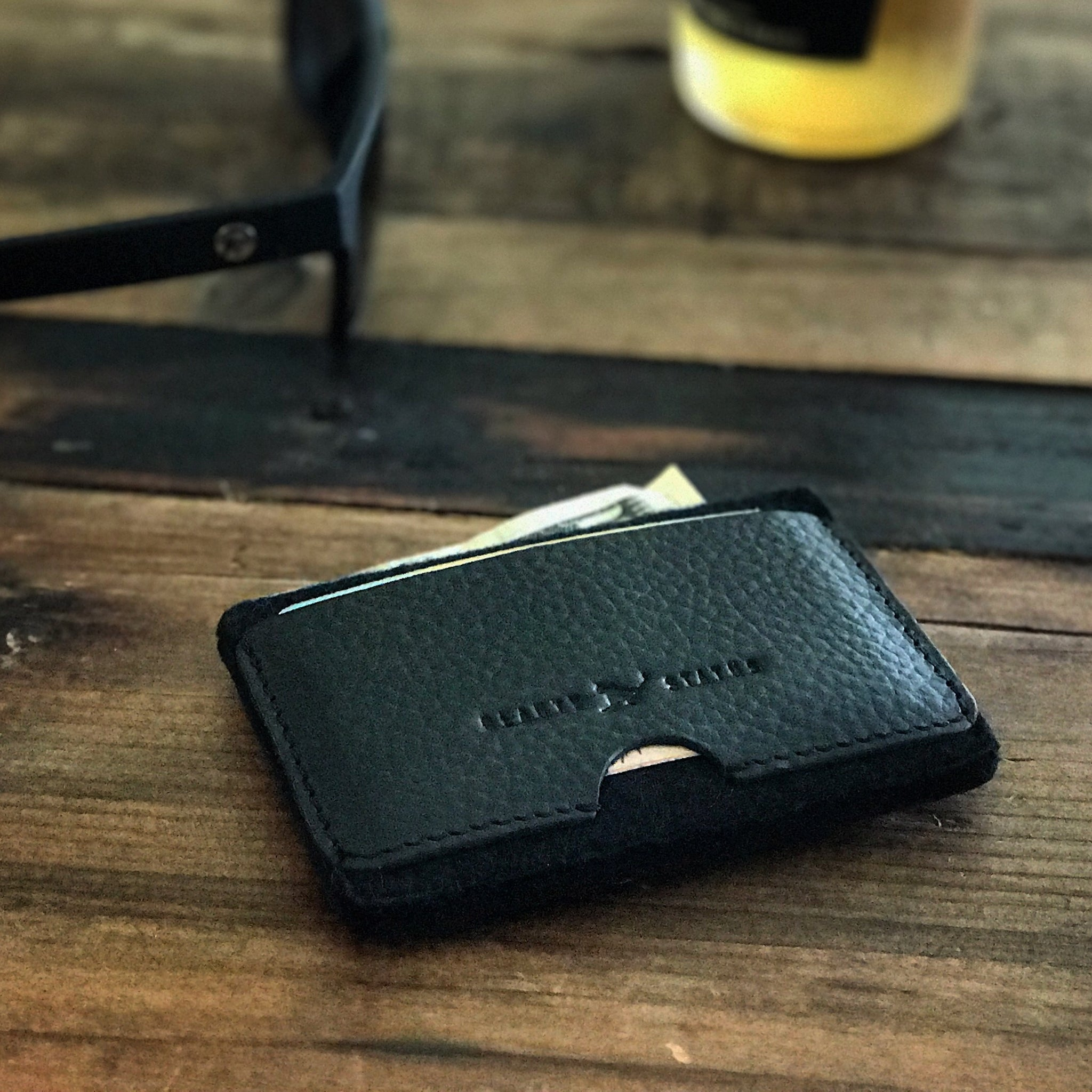 Signature Wallet (Pebble Black/Black) - Beauty Status Hockey Co.