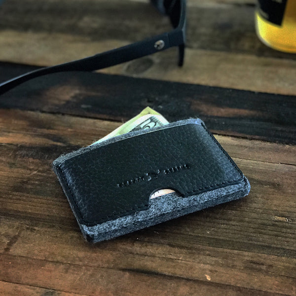 Signature Wallet (Pebble Black/Dark Grey Heather) - Beauty Status Hockey Co.