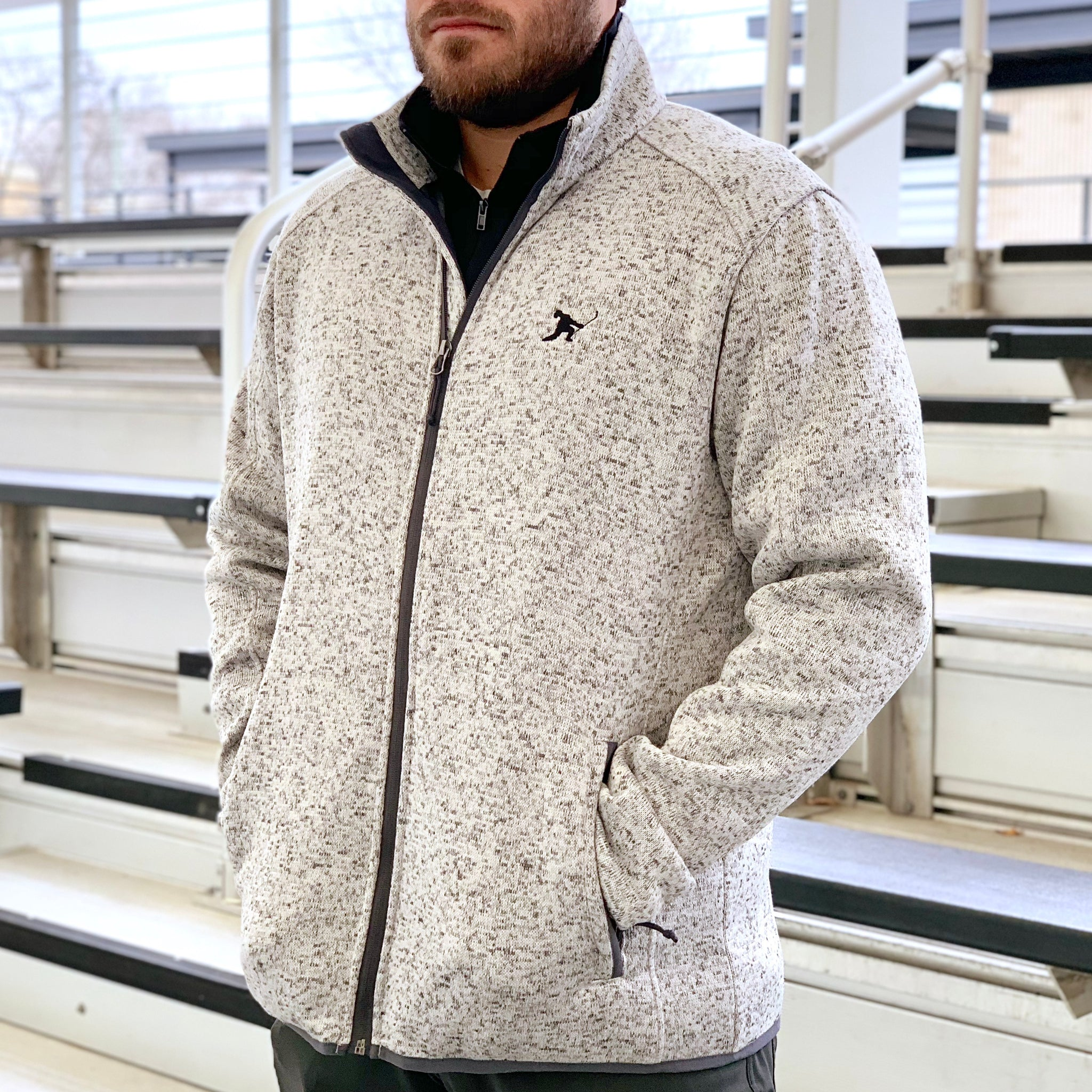 Team Issued *Sweater Knit Fleece Jacket - Beauty Status Hockey Co.