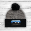 Pondagonia Pom Knit (Grey Heather/Black) - Beauty Status Hockey Co.