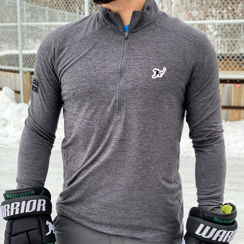 Classic (Onyx Heather) *Performance Stretch 1/2 Zip