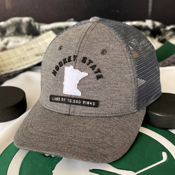 Hockey State (Shadow Tech Pique/Charcoal) - Beauty Status Hockey Co.