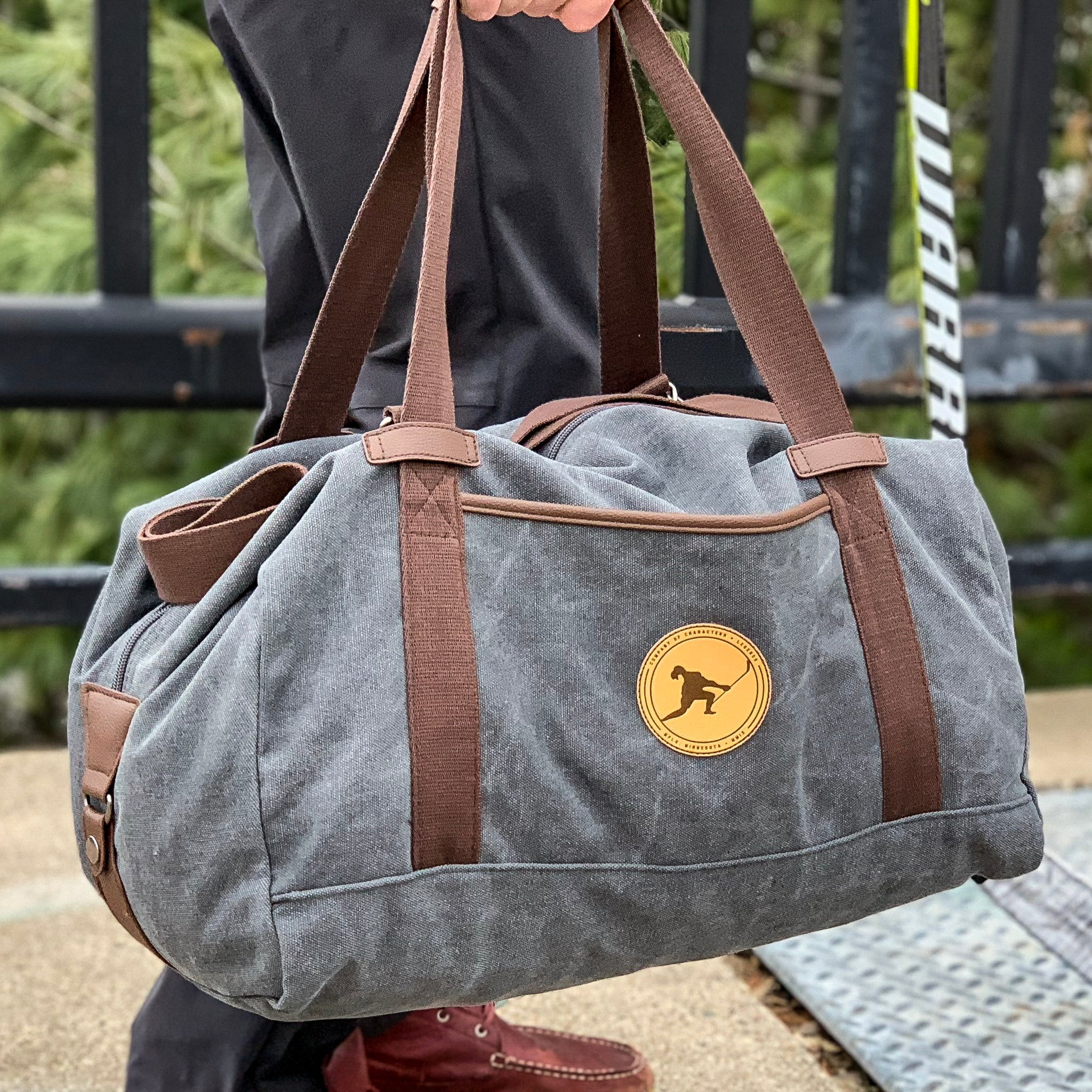 Characters + Legends Duffel Bag (Washed Graphite) - Beauty Status Hockey Co.
