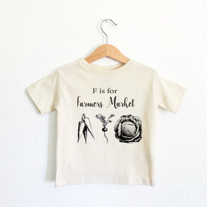 F is for Farmers Market Toddler Tee
