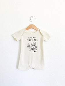 Sweeter than Huckleberries Short Sleeve Romper