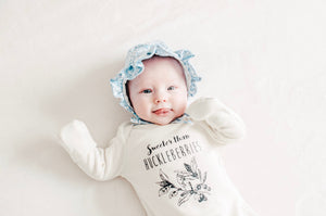 Sweeter than Huckleberries Newborn Gown