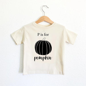 P is for Pumpkin Toddler Tee
