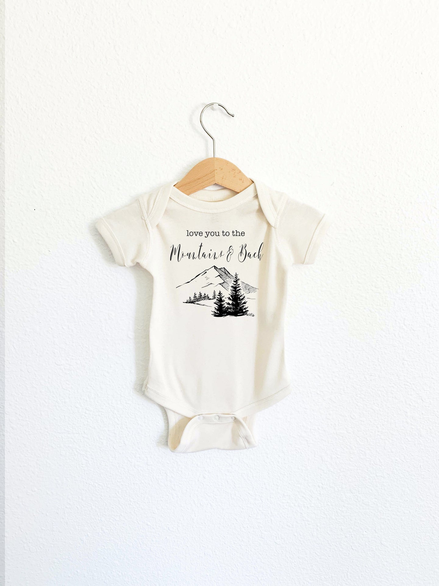 Love you to the Mountains & Back (NEW) Onesie