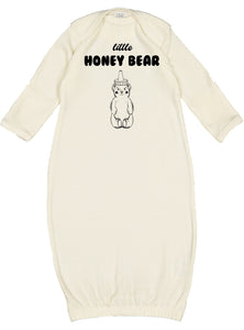 Little Honey Bear Newborn Gown
