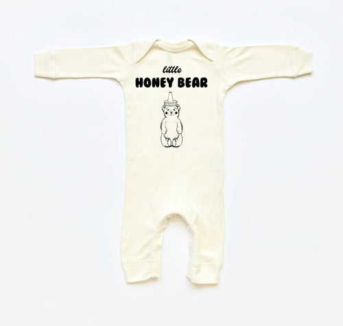 Little Honey Bear Long Sleeve Romper