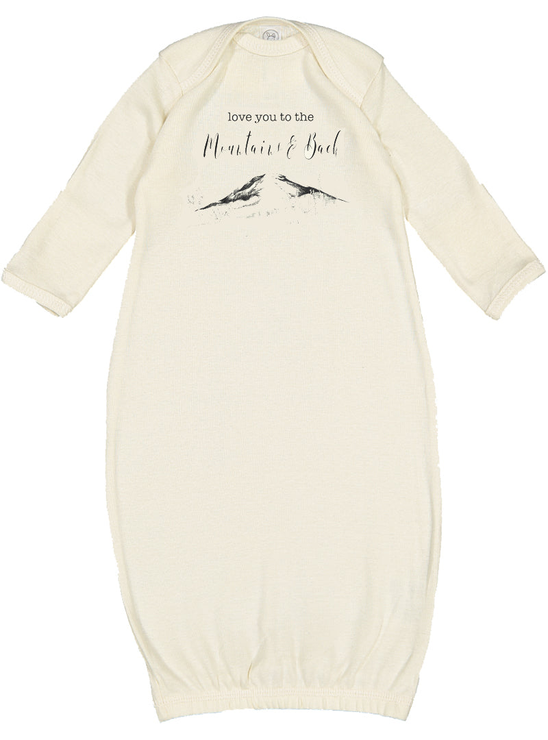Love you to the Mountains & Back Newborn Gown