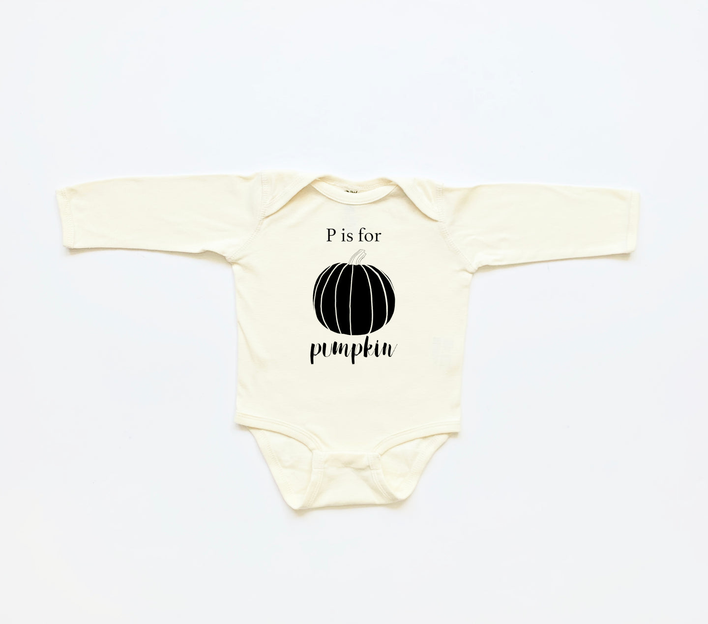 P is for Pumpkin Long Sleeve Onesie