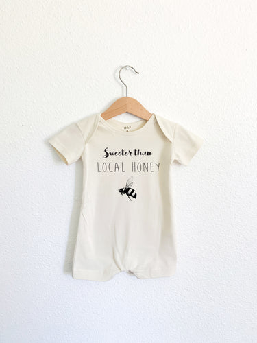 Sweeter than Local Honey Short Sleeve Romper