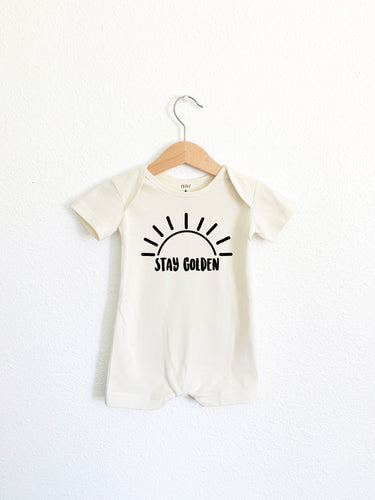 Stay Golden Romper Shortie