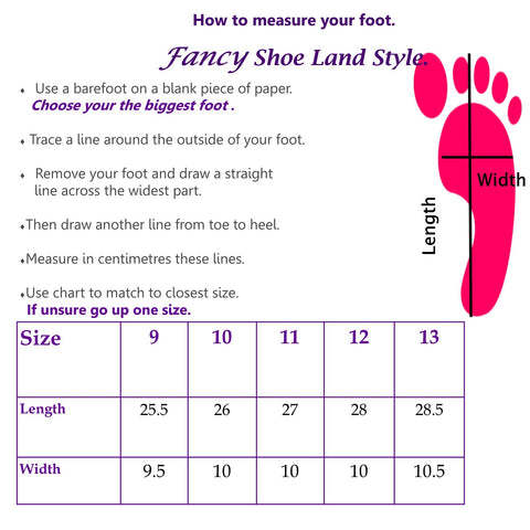large size womens shoes that fit measure chart