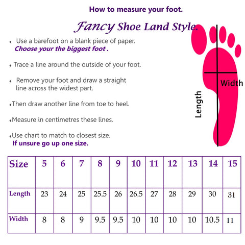 large size shoes chart for women