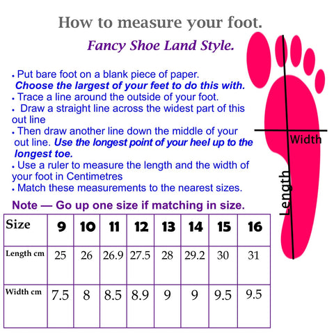 size chart for shoes
