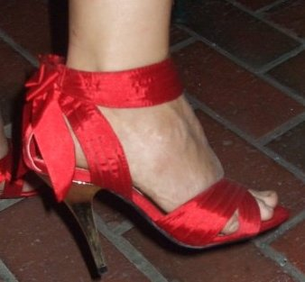 Lisa's Fancy red high heel.