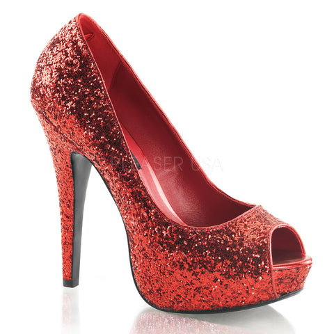 fancy red glitter covered high heels