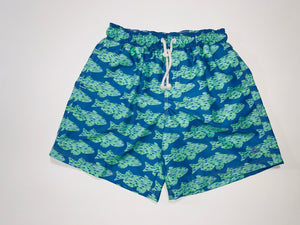 Whale Patterned Swim Trunks
