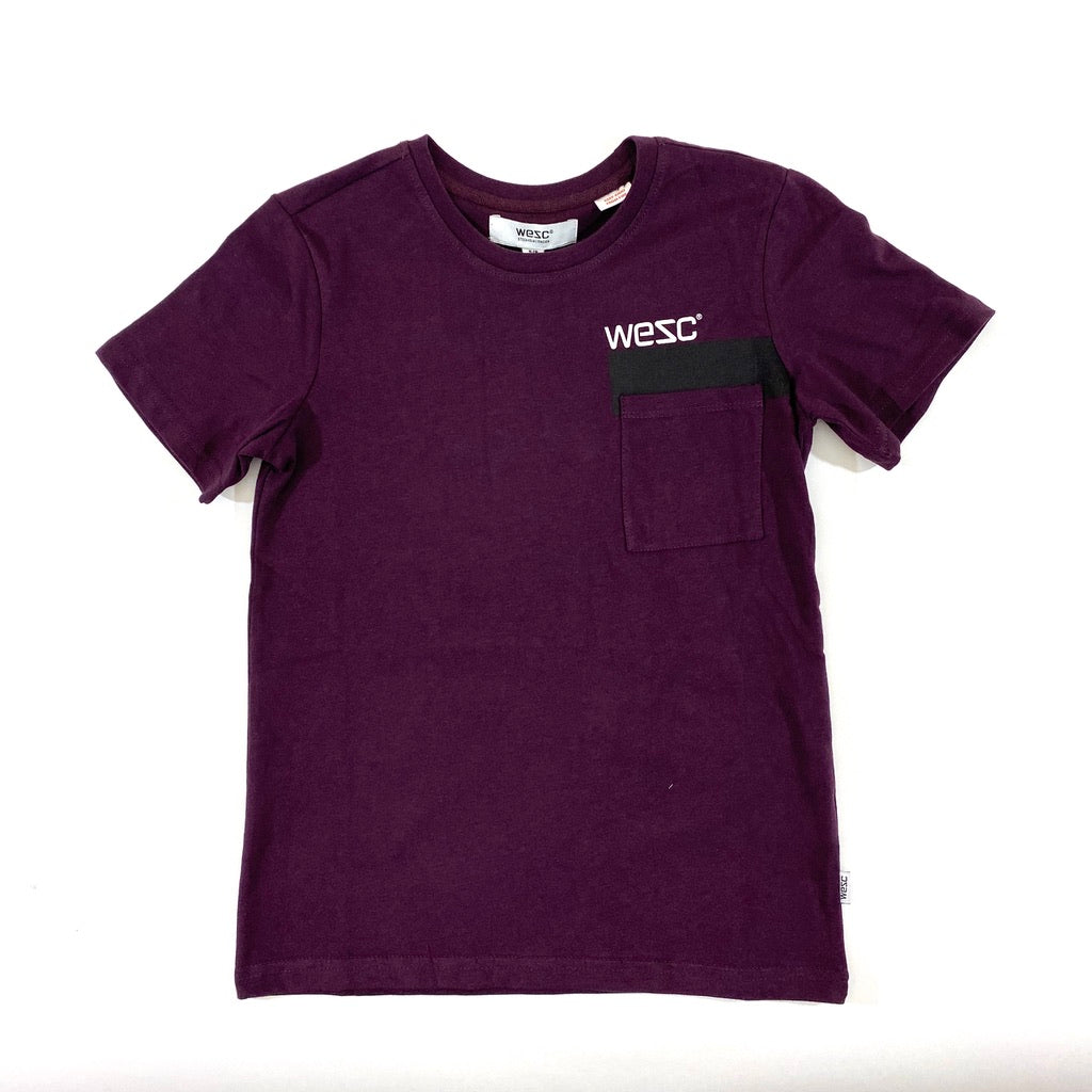 WESC Burgundy Pocket Tee