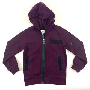 WESC Burgundy Zip Up