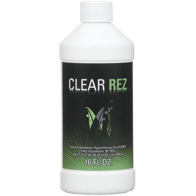Clear Rez bottle with hypochlorus acid