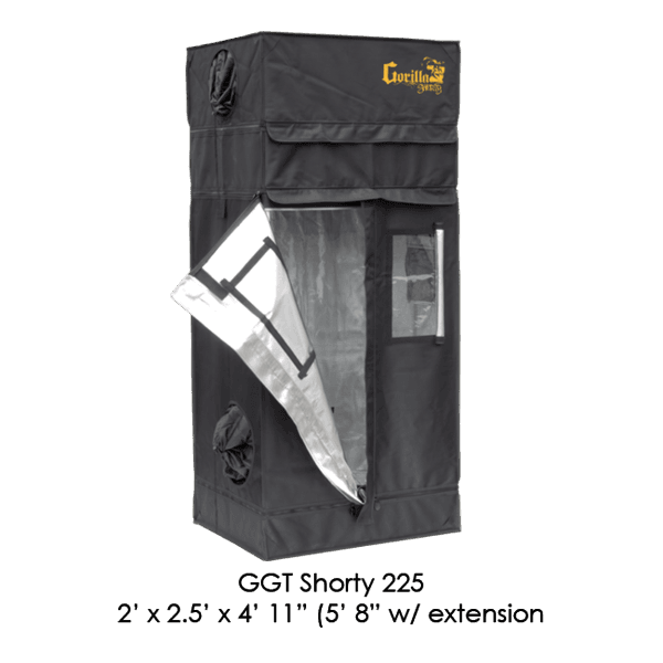 Half Open The Gorilla Grow Tent® Shorty 2' X 2.5' X 4'11""