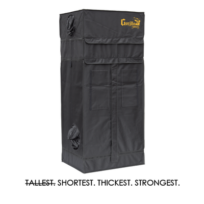 front The Gorilla Grow Tent® Shorty 2' x 2.5' x 4'x11""