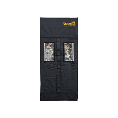 "2.5 ft front closed open windows of Gorilla LITE LINE Indoor 2' x 2.5' x 5'7"" Grow Tent"
