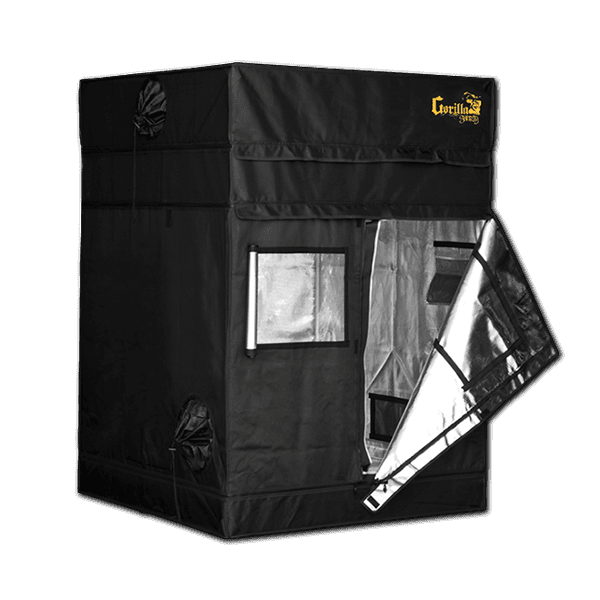 half open The Gorilla Grow Tent® Shorty 4' x 4' x 4'11""
