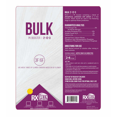 Bulk pk booster 2-12-3 general label with directions for us