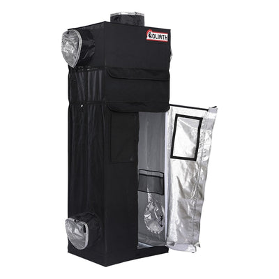 "half open The Goliath Grow Tent 2' x 2.5' x 6'11""/7'11"""