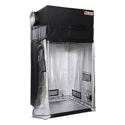 "front open The Goliath Grow Tent 4'x4'x6'11"" (1 Ft. Extension Kit Included)"